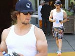*EXCLUSIVE* Los Angeles, CA - Actor, Mark Wahlberg, shows of his massive biceps as he leaves Bristol Farms with a friend.  He was seen in a white tank top, graphic print shorts, white sneakers, and a Wahlburgers Baseball Cap.\nAKM-GSI       July 1, 2016\nTo License These Photos, Please Contact :\nMaria Buda\n(917) 242-1505\nmbuda@akmgsi.com\nsales@akmgsi.com\nMark Satter\n(317) 691-9592\nmsatter@akmgsi.com\nsales@akmgsi.com\nwww.akmgsi.com
