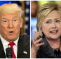 This photo combo of file images shows U.S. presidential candidates Donald Trump, left, and Hillary Clinton. Income inequality has been a rallying cry of the 2016 election, with more Americans turning fearful and angry about a shrinking middle class. Trump has pledged to restore prosperity by ripping up trade deals and using tariffs to return manufacturing jobs from overseas. Clinton has backed a debt-free college option and higher minimum wages to help the middle class. (AP Photo/Mary Altaffer, Chuck Burton)