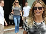 Picture Shows: Heidi Klum  July 01, 2016\n \n Model and TV personality Heidi Klum is all smiles while stepping out in New York City, New York. Heidi has been busy as of late, filming 'Project Runway's' latest season. \n \n Non Exclusive\n UK RIGHTS ONLY\n \n Pictures by : FameFlynet UK © 2016\n Tel : +44 (0)20 3551 5049\n Email : info@fameflynet.uk.com