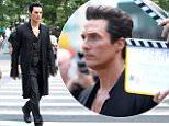 eURN: AD*211505412  Headline: 'The Dark Tower' on set filming, New York, USA - 30 Jun 2016 Caption: Mandatory Credit: Photo by MediaPunch/REX/Shutterstock (5743688h) Matthew McConaughey 'The Dark Tower' on set filming, New York, USA - 30 Jun 2016  Photographer: MediaPunch/REX/Shutterstock  Loaded on 30/06/2016 at 21:40 Copyright: REX FEATURES Provider: MediaPunch/REX/Shutterstock  Properties: RGB JPEG Image (39947K 1171K 34.1:1) 4304w x 3168h at 300 x 300 dpi  Routing: DM News : GeneralFeed (Miscellaneous) DM Showbiz : SHOWBIZ (Miscellaneous) DM Online : Online Previews (Miscellaneous), CMS Out (Miscellaneous)  Parking:
