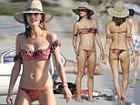 UK MARKET ALLROUND ONLINE FEE 100 GBP. CREDIT MUST READ: IMP FEATURES/AF/JV\nNon exclusive:\nAnother fun day at the beach for Alessandra Ambrosia and her cute little family. She was spotted on the beach again, getting her tan on and enjoying some time off on July 2nd 2016, Ibiza, Spain.