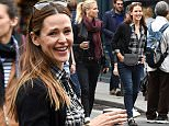 3 July 2016.\nJennifer Garner is seen walking around paris in the Le Marais district, jennifer was seen looking in many of the boutique shops and was seen buying clothes in a shop called ERO and Lepetto, Jennifer then walked through the streets and headed for a ice cream in the park Place Des Vosges\nCredit: Neil Warner/GoffPhotos.com   Ref: KGC-195\n