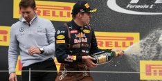 Verstappen revels in 'bonus' second-place