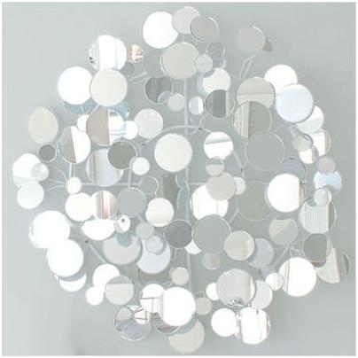 Kenneth Wingard Small Mirrored Op Wall Art