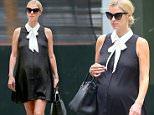 New York, NY - A heavily pregnant Nicky Hilton dons a cute black maternity dress as she baby bumps through the streets of New York.\nAKM-GSI       July 5, 2016\nTo License These Photos, Please Contact :\nMaria Buda\n(917) 242-1505\nmbuda@akmgsi.com\nsales@akmgsi.com\nor\nMark Satter\n(317) 691-9592\nmsatter@akmgsi.com\nsales@akmgsi.com\nwww.akmgsi.com