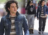 07/04/2016 EXCLUSIVE: Game of Thrones star Kit Harrington begins filming scenes for Xavier Dolan's latest project in Montreal Canada. Kit plays the lead, John F. Donovan, and is seen here filming alongside '12 monkeys' star Emily Hampshire.  Please byline:TheImageDirect.com *EXCLUSIVE PLEASE EMAIL sales@theimagedirect.com FOR FEES BEFORE USE