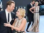 """LONDON, ENGLAND - JULY 05:  Alexander Skarsgard and Margot Robbie attend the UK Premiere of """"The Legend of Tarzan"""" at Odeon Leicester Square on July 5, 2016 in London, England.  (Photo by Fred Duval/FilmMagic)"""