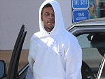 """EXCLUSIVE TO INF. June 30, 2016: Nick Young is spotted going to Chase Bank in Los Angeles, California this morning while sporting a """"Pablo"""" sweatshirt in support of Kanye West's album. Young's ex-fiancee, Iggy Azalea, recently claimed that she caught Nick bringing other women into their home on CCTV. Mandatory Credit: Mariotto/Chiva/INFphoto.com  Ref: infusla-244/276"""