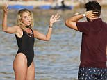 July 04, 2016: July 04, 2016  Towie's James Argent And Lydia Seen Bumping Into Each Other On The Beach For The First Time Since They Split Whilst Filming In Magaluf For The Only Way Is Essex.  Non Exclusive Worldwide Rights Pictures by : FameFlynet UK © 2016 Tel : +44 (0)20 3551 5049 Email : info@fameflynet.uk.com