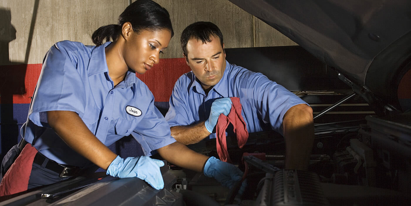 Automotive service technician and mechanic | U.S. median hourly wage: $17.65 | U.S. total employment: 761,500 | Projected job growth to 2022: +9% | Typical training: high school or GED