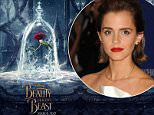 emma watson shares first photo of beauty and the beast poster