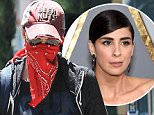Exclusive... 52114853 Comedian Sarah Silverman is seen hiding her face under a red bandana while visiting her doctor in Beverly Hills, California with a friend on July 7, 2016. Sarah wrote on her Facebook page that she is ìinsanely lucky to be aliveî after being hospitalized in the intensive care unit (ICU) with Epiglottitis. ***NO USE W/O PRIOR AGREEMENT-CALL FOR PRICING*** FameFlynet, Inc - Beverly Hills, CA, USA - +1 (310) 505-9876