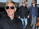 Los Angeles, CA - Ellen DeGeneres and wife Portia de Rossi hold hands and smile wide as they arrive for their departing flight out of LAX. The couple looks happier than ever despite unconfirmed reports of a divorce on the horizon.\nAKM-GSI      July 6, 2016\nTo License These Photos, Please Contact :\nMaria Buda\n(917) 242-1505\nmbuda@akmgsi.com\nsales@akmgsi.com\nor\nMark Satter\n(317) 691-9592\nmsatter@akmgsi.com\nsales@akmgsi.com\nwww.akmgsi.com