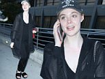 07.July.2016 - Hollywood - USA\n*** STRICTLY AVAILABLE FOR UK AND GERMANY USE ONLY ***\nElle Fanning is spotted arriving at the Arclight for a movie night with a friend. She is kind enough to sign autographs before walking in to grab a seat. She is wearing Rihanna Fenty slippers to match an all black sporty outfit.\nBYLINE MUST READ : AKM-GSI-XPOSURE\n***UK CLIENTS - PICTURES CONTAINING CHILDREN PLEASE PIXELATE FACE PRIOR TO PUBLICATION ***\n*UK CLIENTS MUST CALL PRIOR TO TV OR ONLINE USAGE PLEASE TELEPHONE 0208 344 2007*\n