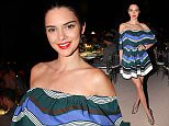 Mandatory Credit: Photo by Lodovico Colli di Felizzano/REX/Shutterstock (5753211as) Kendall Jenner Fendi 90th anniversary catwalk show and dinner, Trevi Fountain, Rome, Italy - 07 Jul 2016
