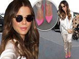 eURN: AD*212120453  Headline: Kate Beckinsale stunning in satin pantsuit and pink heels at LAX Caption: Wednesday, July 6, 2016 - Kate Beckinsale looks amazing in a white satin pantsuit and extremely high pink heels, carrying a heart print scarf as she catches a flight out of LAX with daughter Lily Mo Sheen. Gio-Perez/X17online.com Photographer: Gio-Perez/X17online.com  Loaded on 07/07/2016 at 00:27 Copyright:  Provider: Gio-Perez/X17online.com  Properties: RGB JPEG Image (5411K 559K 9.7:1) 1142w x 1617h at 300 x 300 dpi  Routing: DM News : GeneralFeed (Miscellaneous) DM Showbiz : SHOWBIZ (Miscellaneous) DM Online : Online Previews (Miscellaneous), CMS Out (Miscellaneous)  Parking: