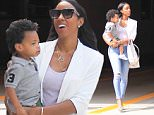 Exclusive... 52115953 Singer and songwriter Kelly Rowland takes her family to the doctors office in Beverly Hills, California on July 8, 2016.  She held her son in her arms while she walked with her husband Tim. FameFlynet, Inc - Beverly Hills, CA, USA - +1 (310) 505-9876