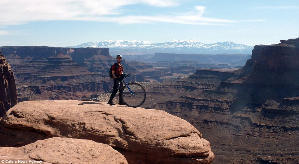 Vista: Kris Holm on the Moab White Rim in Utah The brave unicyclist has crossed 14 countries and beaten some of the world's most difficult terrain
