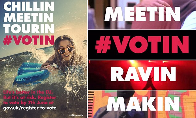 Cringin: The advertising campaign designed to encourage young people to vote to remain in the EU referendum