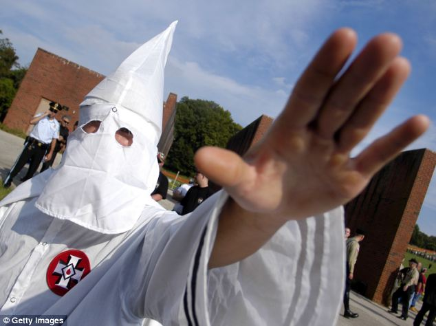 It isn't a criminal offense to be in the Ku Klux Klan, but local police chief Terry Isaacs said he had to consider how the allegations might affect the officers' credibility and the perception of the department in the community (stock photo)