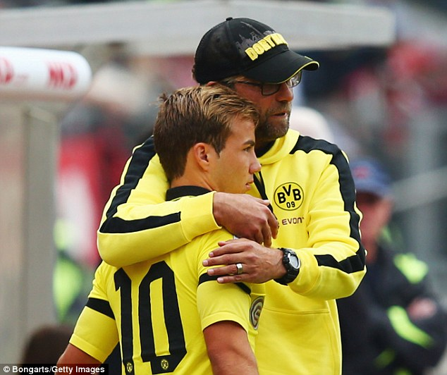 Klopp wanted to sign Gotze as he attempts to overhaul his Liverpool squad for next season