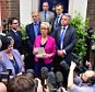 © Licensed to London News Pictures. 11/07/2016. London, UK. Conservative party leadership contender ANDREA LEADSOM MP Delivers a statement in Westminster on July 11, 2016 I which she is expected to pull out of the leadership race.  Photo credit: Ben Cawthra/LNP