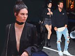 "EXCLUSIVE: Kendall Jenner put her stunning model physique on display as she reunited with Scott Disick for Dinner in NYC. They headed to a friend's Soho Apartment together, before heading out to eat at Cipriani's. Kendall wore a black silk blouse, with a plunging neckline. She paired it with tiny ripped jean shorts, a choker and a pair of black ankle boots. Scott dressed casual for the night with a ""LORD"" hoodie, jeans and white adidas sneakers. They enjoyed drinks and appetizers before heading to Nobu for the real meal. They were accompanied by 7 security guards for the evening in the city.\n\nPictured: Kendall Jenner , Scott Disick\nRef: SPL1315533  090716   EXCLUSIVE\nPicture by: 247PAPS.TV / Splash News\n\nSplash News and Pictures\nLos Angeles: 310-821-2666\nNew York: 212-619-2666\nLondon: 870-934-2666\nphotodesk@splashnews.com\n"