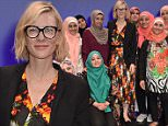 LONDON, ENGLAND - JULY 06:  Cate Blanchett, Goodwill Ambassador for UNHCR, the UN Refugee Agency, meets the cast of Queen of Syria, opening tonight at the Young Vic. The show tours ahead of a West End Gala  on July 6, 2016 in London, England.  (Photo by David M. Benett/Dave Benett/Getty Images)