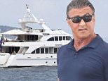 Sylvester Stallone boards a huge yacht in Monte Carlo before sailing off with wife Jennifer Flavin and their daughters Sistine, Scarlet and Sophia\n9 July 2016.\nPlease byline: Vantagenews.com