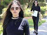 *EXCLUSIVE* Beverly Hills, CA - Jessica Gomes enjoys a juice from Erewhon Market after breakfast as she is seen strutting down the sidewalk looking casual but classy in an all black outfit, complete with a black choker, and black Fenty fur slides. \nAKM-GSI          July 9, 2016\nTo License These Photos, Please Contact :\nMaria Buda\n(917) 242-1505\nmbuda@akmgsi.com\nsales@akmgsi.com\nor \nMark Satter\n(317) 691-9592\nmsatter@akmgsi.com\nsales@akmgsi.com