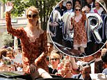 Celine Dion is mobbed by fans as she checks out of her hotel in Paris. The French-Candian singer had been staying at the city's Royal Monceau hotel whilst performing in the french capital.\n9 July 2016.\nPlease byline: Vantagenews.com
