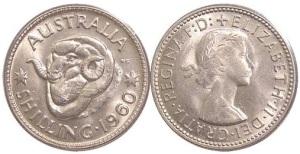 Australian Silver Shilling Coin Cufflinks