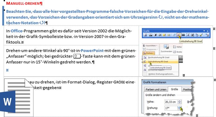 Das Original-Dokument in Word 2013