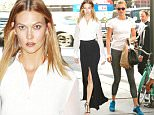 12.July.2016 - New York - USA\n**STRICTLY AVAILABLE FOR UK AND GERMANY USE ONLY**\nNew York, NY - Karlie Kloss is seen leaving the gym on Tuesday. The 23-year-old model is wearing grey leggings and a white Adidas tee paired with bright blue sneakers. \nBYLINE MUST READ : AKM-GSI-XPOSURE\n***UK CLIENTS - PICTURES CONTAINING CHILDREN PLEASE PIXELATE FACE PRIOR TO PUBLICATION ***\n*UK CLIENTS MUST CALL PRIOR TO TV OR ONLINE USAGE PLEASE TELEPHONE 0208 344 2007*\n