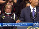 PLS LINK BACK: http://abc7chicago.com/news/cop-appears-to-fall-asleep-during-dallas-memorial-service/1424214/  President Obama's Dallas speech lulls police office to sleep