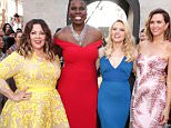 Mandatory Credit: Photo by Eric Charbonneau/REX/Shutterstock (5754120bs) Melissa McCarthy, Leslie Jones, Kate McKinnon, Kristen Wiig 'Ghostbusters' film premiere, Arrivals, Los Angeles, USA - 09 Jul 2016