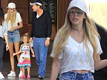 Picture Shows: Petra Ecclestone, Lavinia Stunt, James Stunt  July 11, 2016    Socialite Petra Ecclestone, her husband James Stunt and their daughter Lavinia Stunt are spotted out with a friend in Beverly Hills, California. The pair have stepped up security since their a petrol bomb was thrown at their London home in April, one of their security guards stuck close to the family as they made their way around Beverly Hills.    Non Exclusive  UK RIGHTS ONLY    Pictures by : FameFlynet UK © 2016  Tel : +44 (0)20 3551 5049  Email : info@fameflynet.uk.com