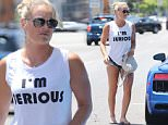"""Los Angeles, CA - Lindsey Vonn treats herself to a visit at the nail salon with a friend. The 31-year-old American World Cup alpine ski racer shows off her athletic legs in frayed short shorts paired with a tank top that says """"I'm Serious.""""\nAKM-GSI          July 11, 2016\nTo License These Photos, Please Contact :\nMaria Buda\n(917) 242-1505\nmbuda@akmgsi.com\nsales@akmgsi.com\nor \nMark Satter\n(317) 691-9592\nmsatter@akmgsi.com\nsales@akmgsi.com\nwww.akmgsi.com"""