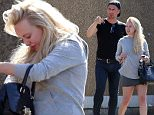 EXCLUSIVE: Jorgie Porter looks at cars with Matt Evers in Los Angeles, California. The ex-Hollyoaks star and her partner from 'Dancing on Ice' were seen at a car lot in the city checking out a Mercedes as well as other vehicles. On July 6th, Jorgie Tweeted that she needed to lease a car in the US and asked for aid from people with contacts. Perhaps Matt stepped in to help with her search. Jorgie, who played Theresa McQueen in Hollyoaks, left the popular soap after 8 years to pursue a career in Hollywood. She looks to have already embraced the laid-back California style, with her blonde hair loose and wearing flip flops and a mini skirt.    Pictured: Jorgie Porter, Matt Evers Ref: SPL1314440  110716   EXCLUSIVE Picture by: Splash News  Splash News and Pictures Los Angeles: 310-821-2666 New York: 212-619-2666 London: 870-934-2666 photodesk@splashnews.com