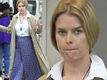 11.July.2016 - West Hollywood Ò USA *** STRICTLY AVAILABLE FOR UK AND GERMANY USE ONLY *** West Hollywood, CA - Alice Eve enjoys a nice massage while getting her nails done at Beverly Hills Nail Design. The 34 year old actress looks chic in a white button up blouse, beige duster, and high waisted flared pants. BYLINE MUST READ : AKM-GSI-XPOSURE ***UK CLIENTS - PICTURES CONTAINING CHILDREN PLEASE PIXELATE FACE PRIOR TO PUBLICATION *** *UK CLIENTS MUST CALL PRIOR TO TV OR ONLINE USAGE PLEASE TELEPHONE 0208 344 2007*