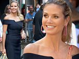 , New York, NY - 7/12/16 -  Project Runway Judges Heidi Klum, Nina Garcia and Zac Posen visit Good Morning America\n-PICTURED: Heidi Klum\n-PHOTO by: Ken Katz/startraksphoto.com\n-KK_312939\nEditorial - Rights Managed Image - Please contact www.startraksphoto.com for licensing fee\nStartraks Photo\nNew York, NY\nFor licensing please call 212-414-9464 or email sales@startraksphoto.com\nImage may not be published in any way that is or might be deemed defamatory, libelous, pornographic, or obscene. Please consult our sales department for any clarification or question you may have.\nStartraks Photo reserves the right to pursue unauthorized users of this image. If you violate our intellectual property you may be liable for actual damages, loss of income, and profits you derive from the use of this image, and where appropriate, the cost of collection and/or statutory damages.