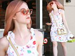 elle fanning new hair color
