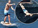 10 July 2016 - PORTOFINO - ITALY *** NOT AVAILABLE FOR ITALY *** Canadian actor Alexander Ludwig enjoys an action packed holiday paddle boarding, diving and running in Portofino with his sister Sophia!  BYLINE MUST READ : XPOSUREPHOTOS.COM ***UK CLIENTS - PICTURES CONTAINING CHILDREN PLEASE PIXELATE FACE PRIOR TO PUBLICATION *** **UK CLIENTS MUST CALL PRIOR TO TV OR ONLINE USAGE PLEASE TELEPHONE 44 208 370 0291**