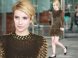 New York, NY - Emma Roberts is seen leaving her NYC apartment. The 25-year-old actress is wearing a long sleeve velvet polka dot dress paired with black flats. \nAKM-GSI          July 11, 2016\nTo License These Photos, Please Contact :\nMaria Buda\n(917) 242-1505\nmbuda@akmgsi.com\nsales@akmgsi.com\nor \nMark Satter\n(317) 691-9592\nmsatter@akmgsi.com\nsales@akmgsi.com\nwww.akmgsi.com