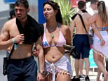 27 June 2016 - EXCLUSIVE. EXCLUSIVE - The Former The Only Way Is Essex star Ferne McCann photographed on the Island of Ibiza today. After breakfast at the Hard Rock hotel she went for a walk and met up with her boyfriend Arthur Collins. They then returned the Hard Rock Hotel for lunch. They were spotted kissing and openly flirting. Credit: GoffPhotos.com   Ref: KGC-149/38982 **UK Sales Only - Exclusive - Papers Allrounder - Mags Double Space Rates - Web/Online MUST Call Before Use**