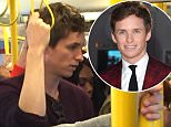 Eddie Redmayne on eastbound Circle line with wife Hannah.