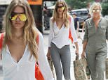 """-New York, NY - 07/12/2016 Gigi Hadid and her mother Yolanda Hadid return home after going shopping at Whole Foods\n-PHOTO by: Frank Lewis/startraksphoto.com\n-HOB_10839\nEditorial - Rights Managed Image - Please contact www.startraksphoto.com for licensing fee\nStartraks Photo New York, NY For licensing please call 212-414-9464 or email sales@startraksphoto.com\n""""Image may not be published in any way that is or might be deemed defamatory, libelous, pornographic, or obscene. Please consult our sales department for any clarification or question you may have\nStartraks Photo reserves the right to pursue unauthorized users of this image. If you violate our intellectual property you may be liable for actual damages, loss of income, and profits you derive from the use of this image, and where appropriate, the cost of collection and/or statutory damages."""