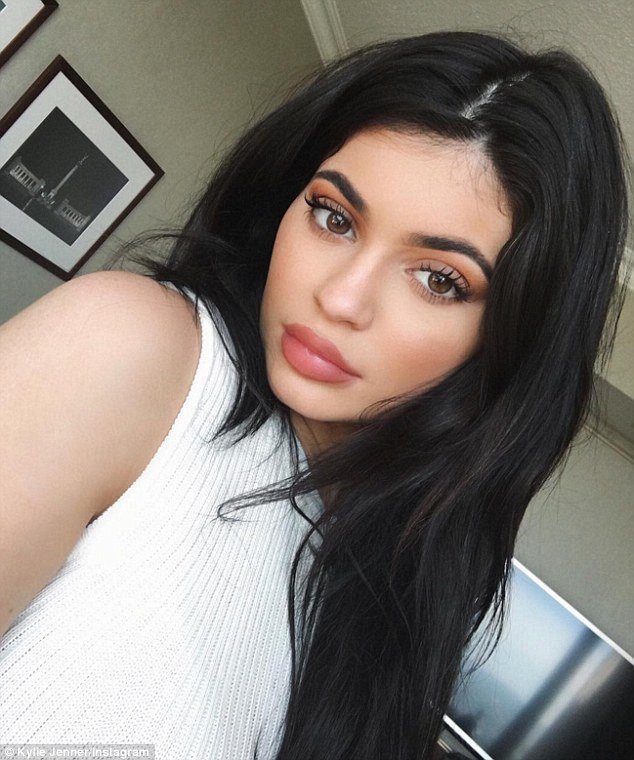 Picture perfect: Jenner Instagrammed a selfie of her flawless makeup on Monday