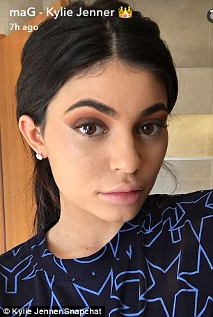 Makeup magic: The 18-year-old shared with her fans a makeup tutorial on her Snapchat account