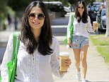 *EXCLUSIVE* Beverly Hills, CA - Sports Illustrated model, Jessica Gomes, captures our vision of Summer perfectly in a gorgeously embroidered peasant blouse, distressed light wash shorts, white Ked-like sneakers, and round sunnies. The well known 'bikini babe' is keeping it green by using a re-usable shopping bag to carry her belongings while she sips on a latte. \nAKM-GSI      July 12, 2016\nTo License These Photos, Please Contact :\nMaria Buda\n(917) 242-1505\nmbuda@akmgsi.com\nsales@akmgsi.com\nor\nMark Satter\n(317) 691-9592\nmsatter@akmgsi.com\nsales@akmgsi.com\nwww.akmgsi.com